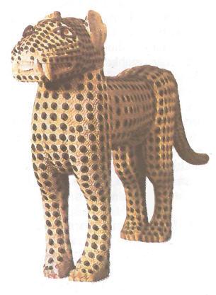 Leopar Heykelciği ( Batı Afrika)