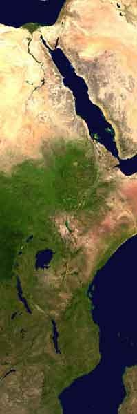 Rift Vadisi uzaydan Görünümü