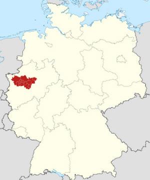 Ruhr Havzası Haritası