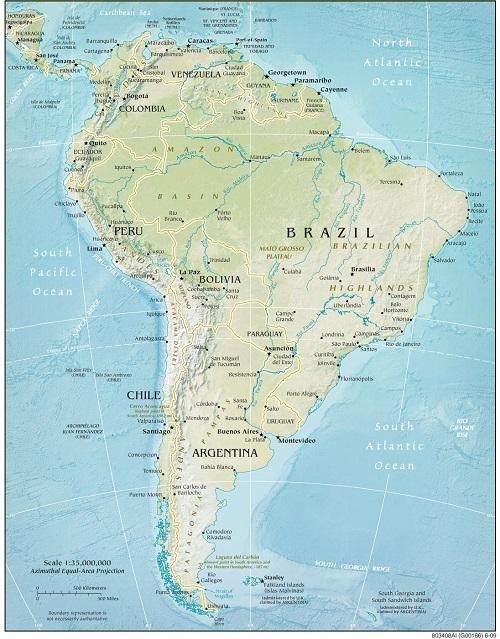 Güney Amerika Harita