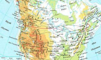Kuzey Amerika Fiziki Haritası