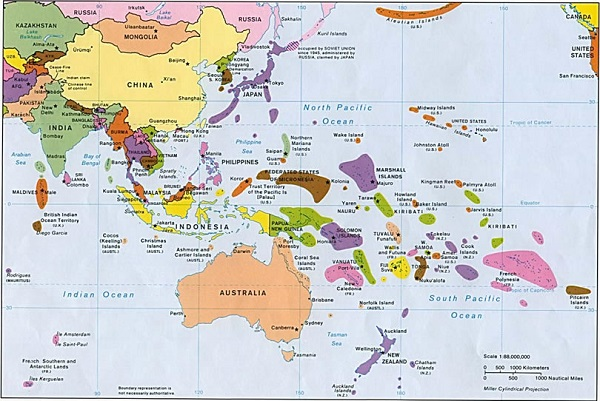 Okyanusya Haritası