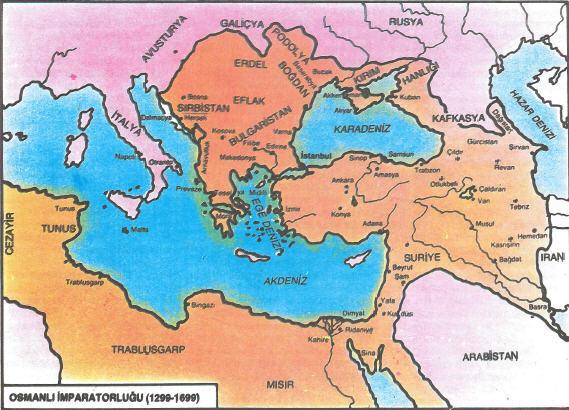 Osmanlı İmparatorluğu Yükseliş Dönemi Haritası