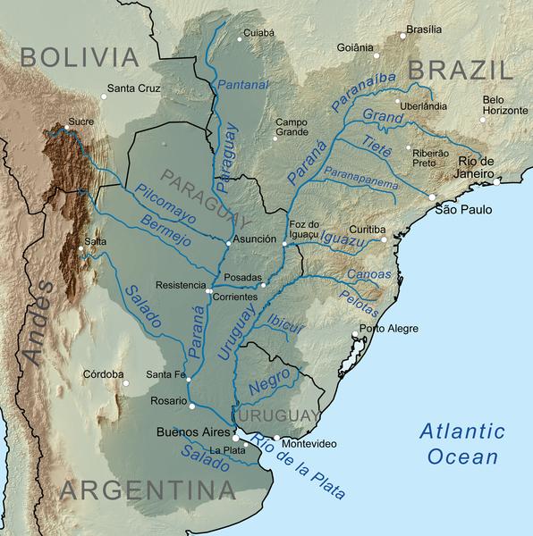 Salado Rio Irmağı Haritası