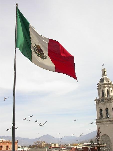 Saltillo ve Meksika Bayrağı