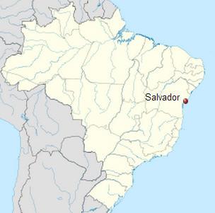 Salvador - Brezilya Haritası