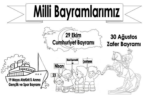 19 Mayıs Boyama Sayfaları