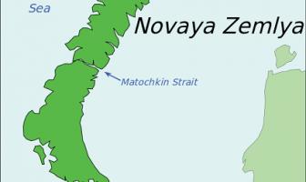 Novaya Zemlya Adası Haritası