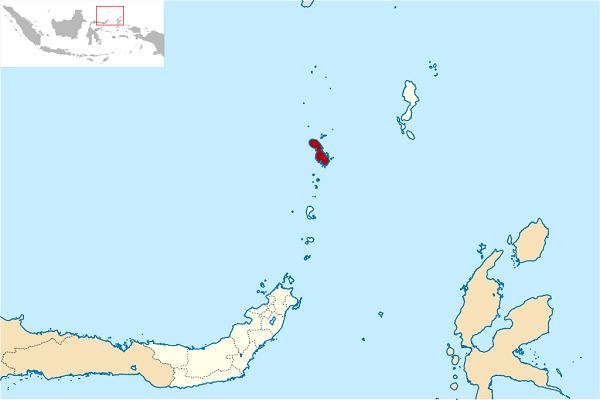 Sangi Adaları Haritası