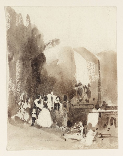 A Historical Scene null by Richard Parkes Bonington 1802-1828