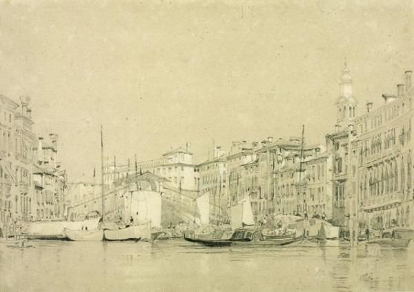 The Grand Canal, Venice 1826 by Richard Parkes Bonington 1802-1828