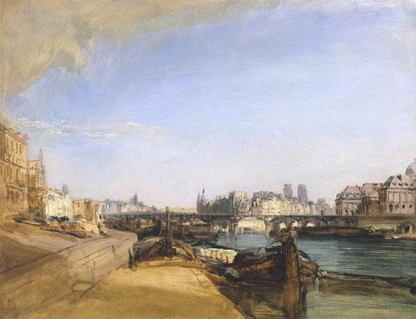 The Pont des Arts, Paris c.1826 by Richard Parkes Bonington 1802-1828