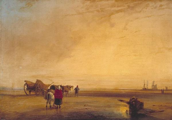 On the French Coast null by Richard Parkes Bonington 1802-1828