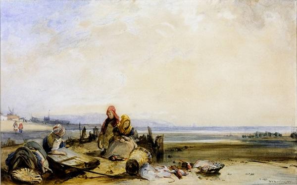 A Scene on the French Coast circa 1825 by Richard Parkes Bonington 1802-1828