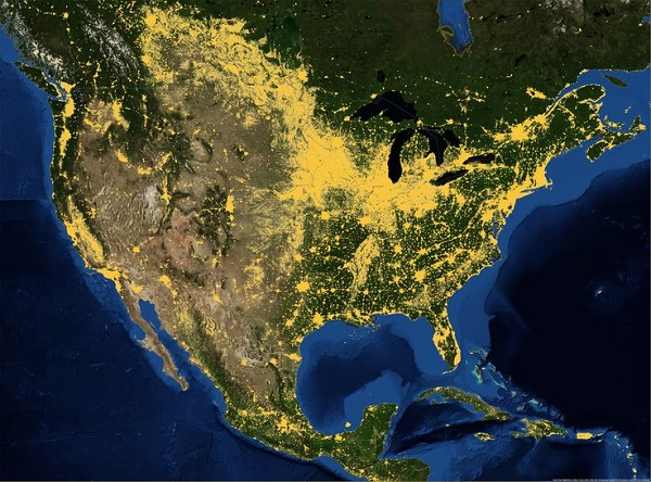 Kuzey Amerika İnsan Dağılımı