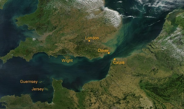 Ile ilgili coğrafi bilgiler. manş denizi haritası ve özellikleri