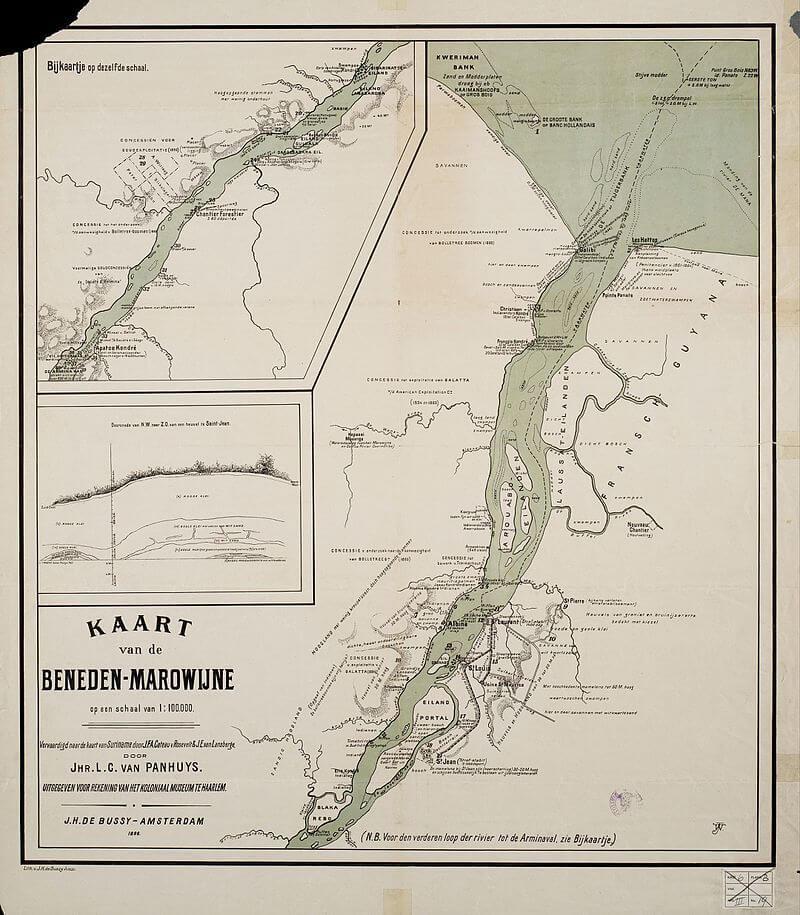 Maroni Irmağı Haritası
