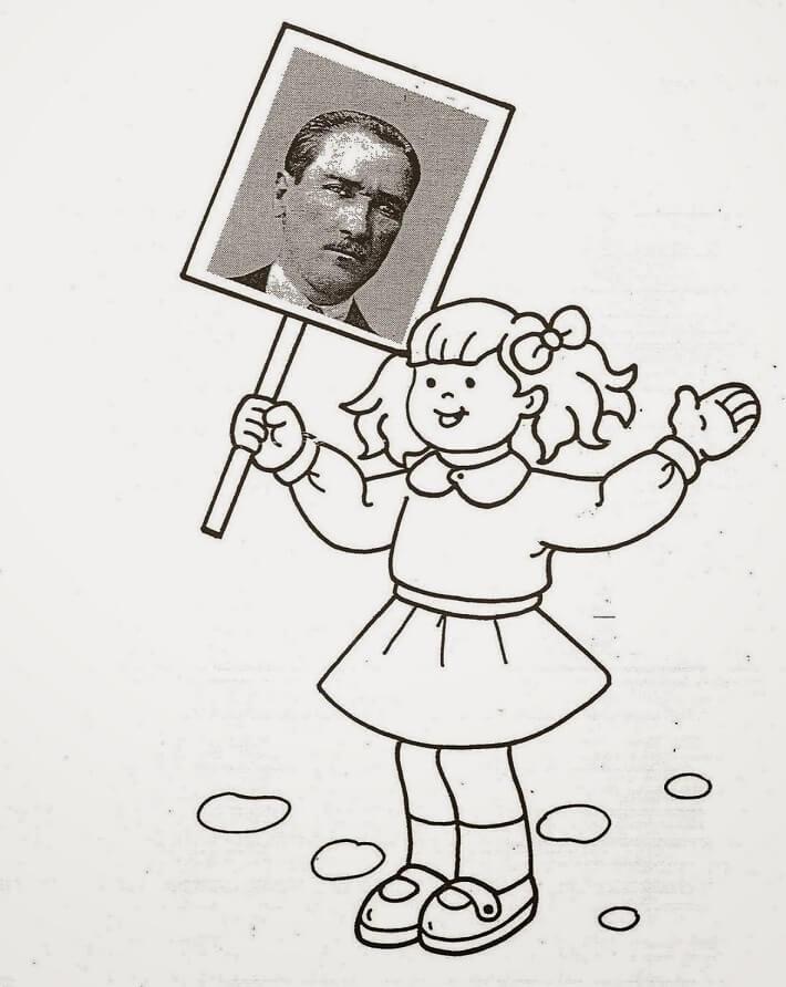 Ataturk Resmi Boyama Egitimhane Coloring Free To Print
