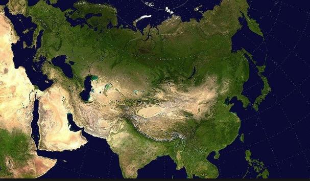 Asya Kıtası Haritası