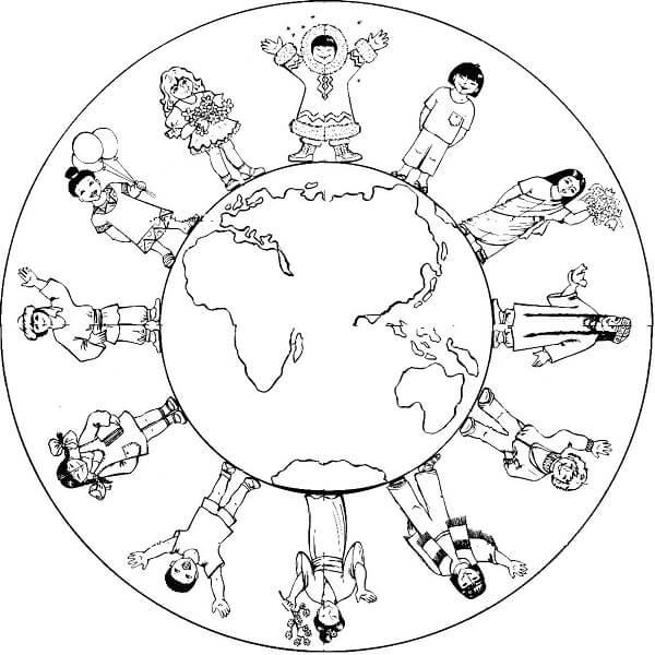 Anasınıfı Dünya Boyama üst Ev Boyama Sayfası