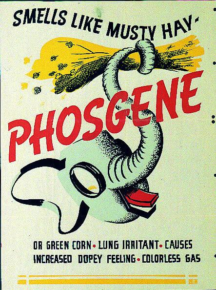 İkinci Dünya Savaşı'ndan ABD Ordusu fosgen tanımlama posteri