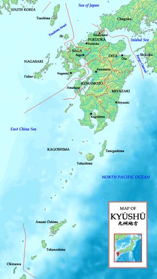 Kyuşu Adası Haritası
