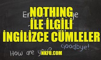 Nothing İle İlgili İngilizce Cümleler