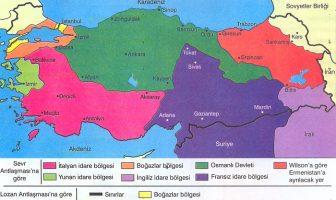 Sevr ve Lozan Antlaşmasına Göre Türkiye Cumhuriyeti Sınırlarının Karşılaştırması