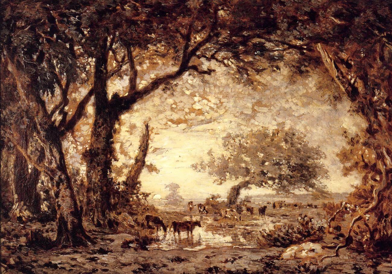 Barbizon ressamlarından Théodore Rousseau'nun yaptığı Fontainebleau Ormanı tablosu