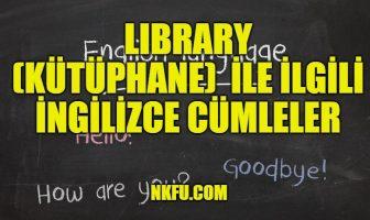 Library (Kütüphane) İle İlgili İngilizce Cümleler