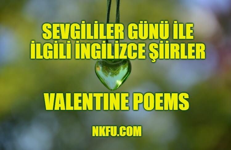 İngilizce Sevgililer Günü Şiirleri