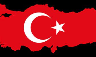 Türk Bayraklı Türkiye Haritası