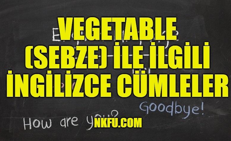 Vegetable (Sebze) İle İlgili İngilizce Cümleler
