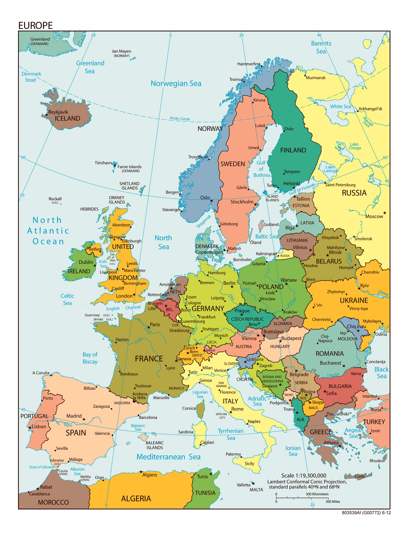 Avrupa Ülkeler Haritası