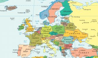 Avrupa Şehirler Haritası