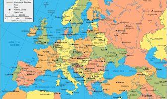 Avrupa Haritası - Ülkeler