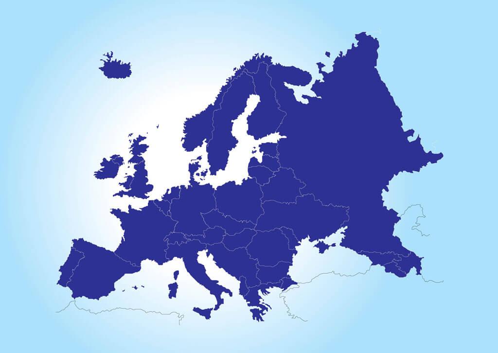 Avrupa Haritası - Vektör