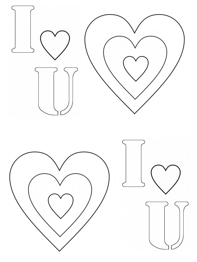 Sevgililer Günü Boyama Sayfaları