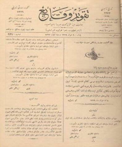 İlk Osmanlıca Gazete