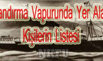 Bandırma Vapurunda Atatürk İle Birlikte Olanlar