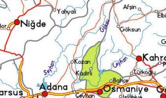 Ceyhan Nehri Haritası