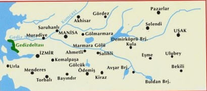 Gediz Nehri Haritası