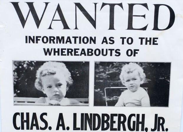 Lindbergh Kidnapping olarak isimlendireln davada 20 aylık bebeği ölü olarak bulunmuştur.