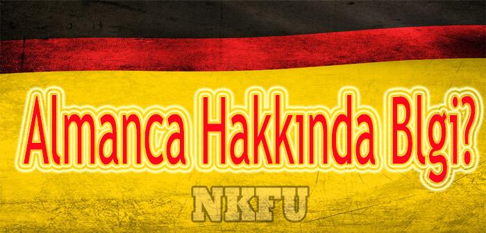 Alman Dili Hakkında Kısa Bilgi