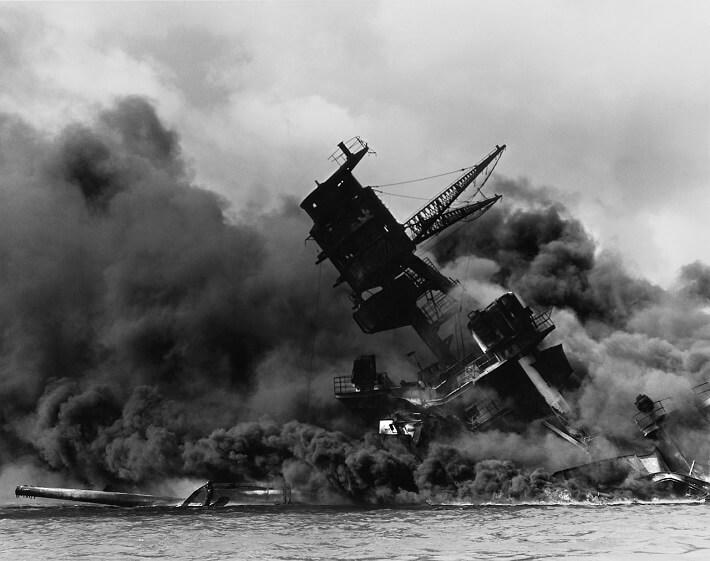 Japonya'nın Pearl Harbor baskınından bir kare