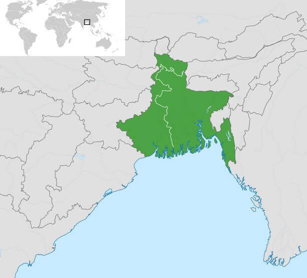 Bengal Bölgesi Haritası