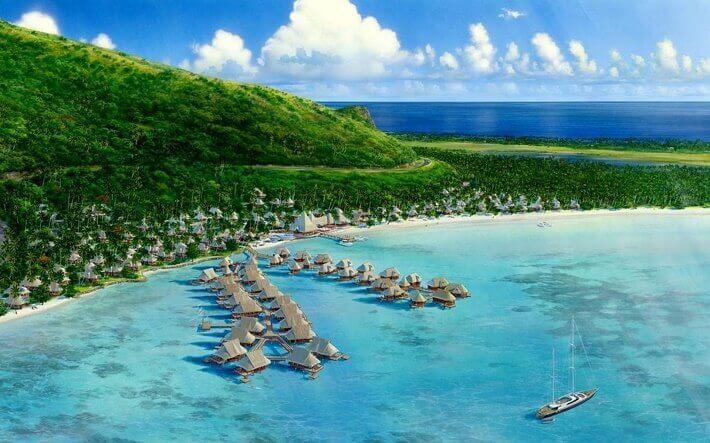 Sosyete Adalarından Tahiti'den bir görüntü