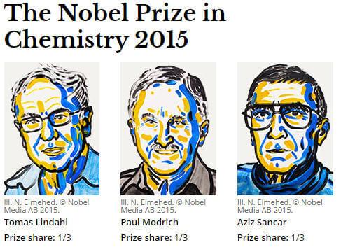 2015 Nobel Kimya Ödüllerini Kazanan Bilim İnsanları