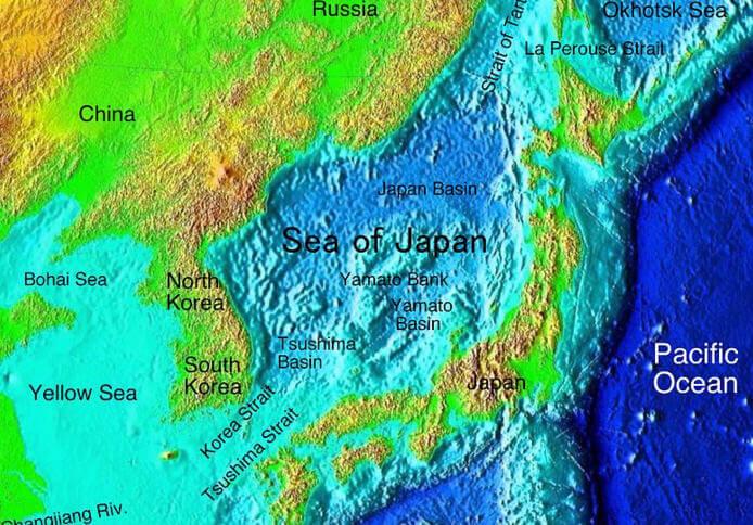 Japon Denizi Haritası
