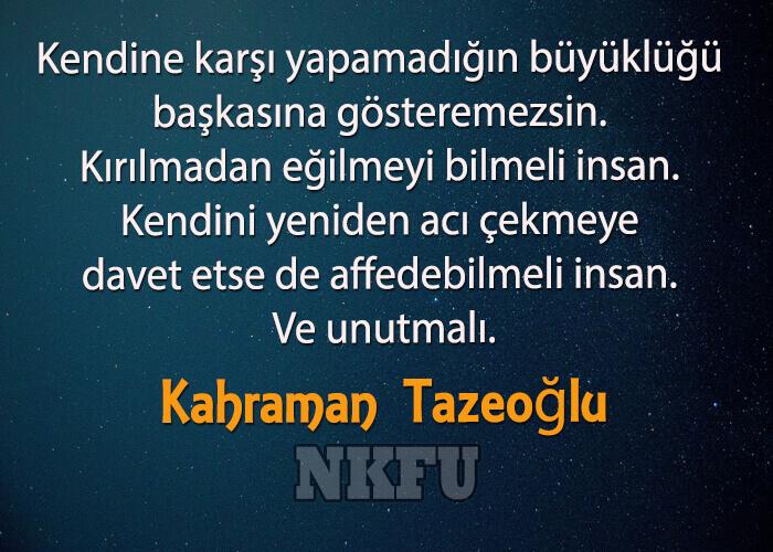 Kahraman Tazeoğlu Sözleri